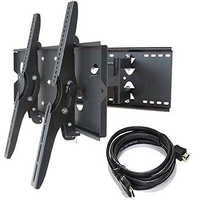 """TV Wall Mount Strong Universal Dual LED Plasma Tilt & Swivel Supports 30"""" to 85"""""""