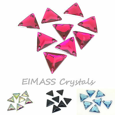 20 x EIMASS® Sew on Glue on Resin Flat Back Crystals,Diamante,Triangle Gems,8775