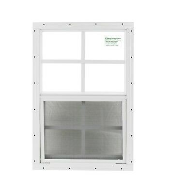 18 x 27 Shed Window SAFETY GLASS White Flush Playhouse Tree Deer Stand Coops