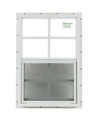 Shed Window Chicken Coop Playhouse 14x21 White J-chan  Safety Glass Barn Storage
