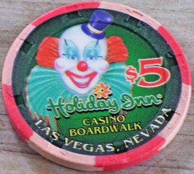 $5 Gaming Chip From The Holiday Inn Boardwalk Casino Las Vegas Nv