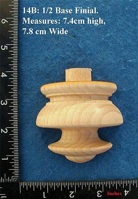 *Single centre of base 1/2 profile Clock / furniture Finial Style 14BF