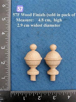 *Pair of Clock / furniture Finials Style 57F