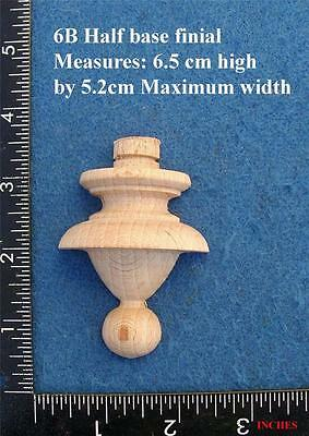 * Single 1/2  Centre base Clock / furniture Finial Style 6bf