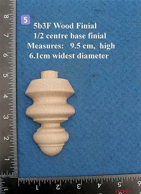 *Single 1/2  Centre base Clock / furniture Finial Style 5bf