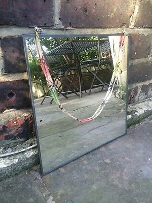 Vtg Style Nickel Framed French Chic Indian Style Chic Wall Hanging Mirror