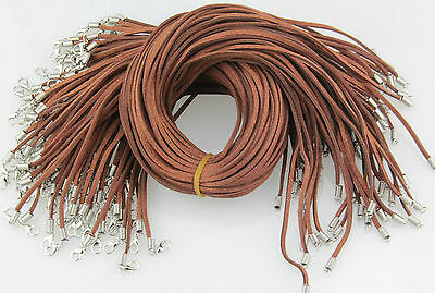Wholesale 10pcs Brown Suede Leather String 20 inches Necklace Cords