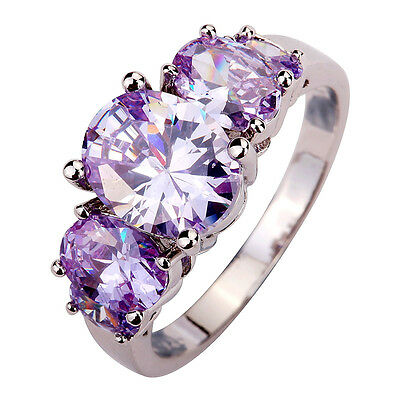 Hot Sale Dainty Charming Tourmaline Great Jewelry Silver Ring Size 6 7 8 9 10