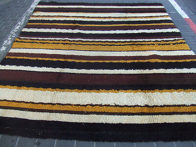 ORIGINAL ANTIQUE MOROCCAN WOOL CARPET HAND MADE 287x228-cm / 112.9x89.7-inches