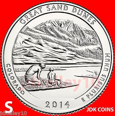 2014 S - Great Sand Dunes National Park Quarters Uncirculated From U.s. Mint