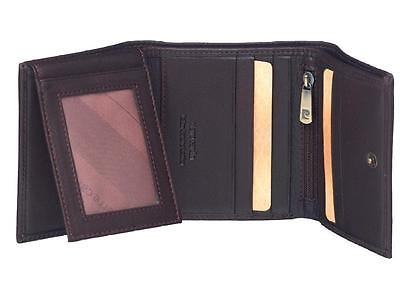Pierre Cardin MEN SOFT LEATHER WALLET BLK 9 SLOTS 2 ID 2 NOTES 8783