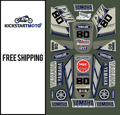 For Yamaha PW80 peewee decal sticker kit pee wee pw 80