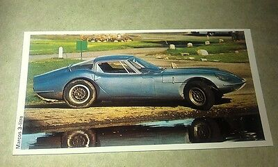 1971 MARCOS 3-LITRE  Daily Express UK Trade Swap Card