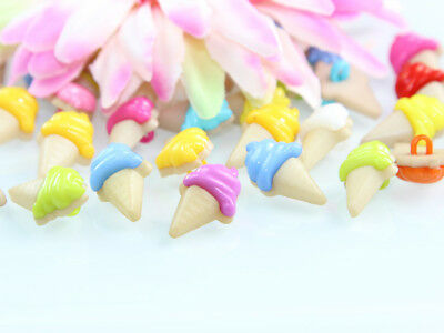 100Pcs Mixed Colors Plastic Cute Ice Cream Buttons Baby Kids Sewing Crafts