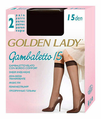 "Golden Lady ""gambaletto 15"" Set 40 Gambaletti In Filanca Colore Melon"