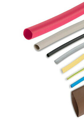 Heatshrink Tube 2:1 Tubing Sleeve Sleeving 0.2-100m Heat Shrink 1.6-50.8mm diam