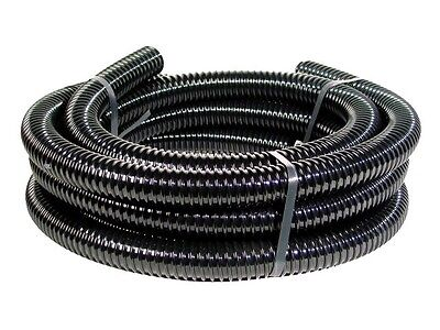 Black Corrugated Flexible Hose Fish Garden Pond Filter Pump Marine Flexi Pipe