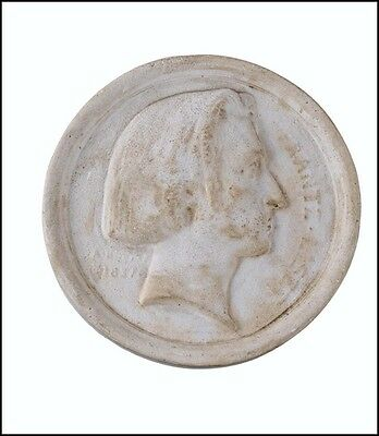 Franz LISZT (Composer, Piano): Larger 1837 Plaster Medllion by Bovy