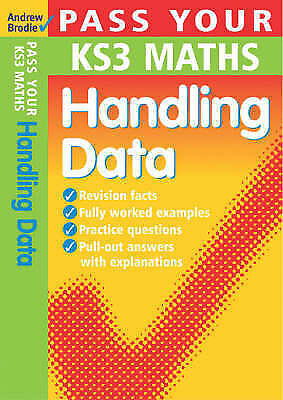 Pass Your KS3 Maths: Handling Data (Pass Your), Brodie, Andrew, New Book
