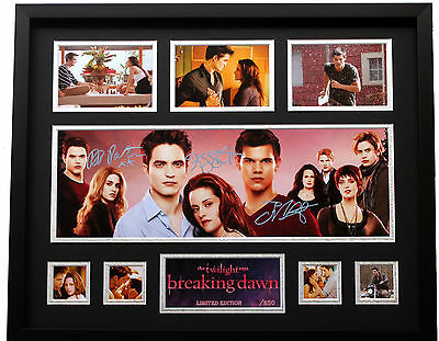 New Twilight Breaking Dawn Pattinson Stewert Signed Limited Edition Memorabilia