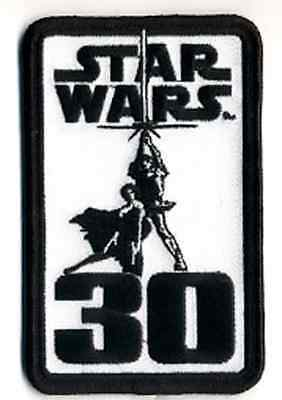 "Star Wars 30th Anniversary Logo 4.25"" Patch-FREE S&H (SWPA-CD-31)"