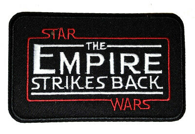 "Star Wars EMPIRE STRIKES BACK Logo 4.5"" Embroidered Patch- FREE S&H (SWPA-CD-32)"