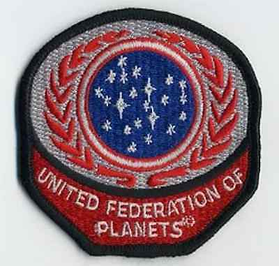 """Star Trek United Federation Planets Red Logo  3"""" Patch-USA Mailed (STPAL-UFPR)"""