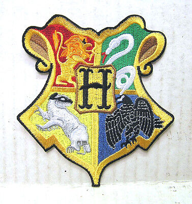 "Harry Potter HOGWARTS School Crest Color Logo 3.5"" Embroidered Patch (HPPA-14)"