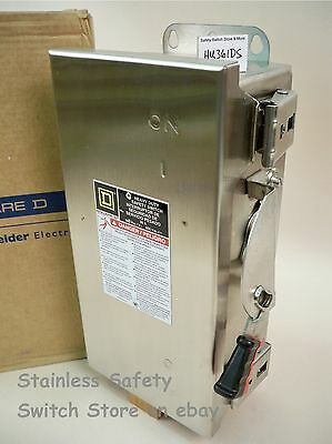 Square D Stainless HU361DS 30amp 600v Non-Fused Safety Switch 129 Available NEW