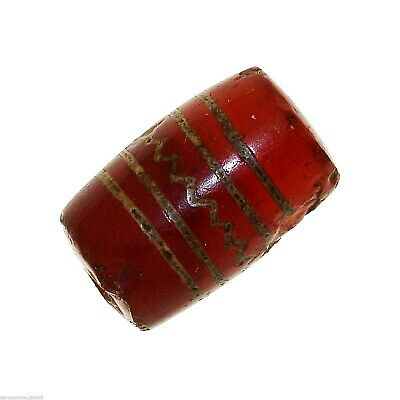 (0384) Buddhist Chung gZi Stone  Bead, China Tibet  涌越秀石珠