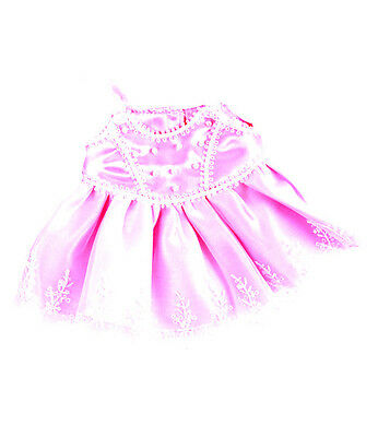 """Amazing Pink Pearly Dress 16"""" by Teddy Mountain will fit Build a Bear"""