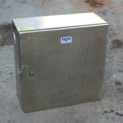 B&R Enclosures Stainless steel storage cabinet 615mm x 600mm x 265mm