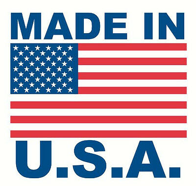 1000 Made in USA 1x1 Inch American Flag Labels Stickers Roll  - Free S&H