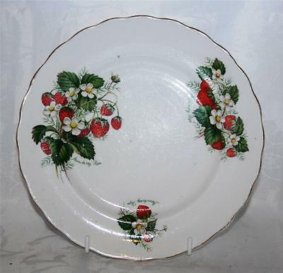 Crownford Vintage Salad Plate - Strawberry Ripe