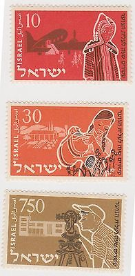 (T8-7) 1955 Israel 6set youth immigration anniversary