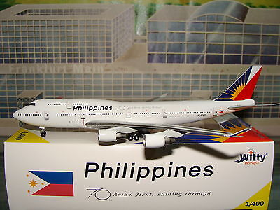 Witty Wings 400 Philippines B747 -400 RP-C7472 70 Asia's first 1/400 **Free S&H