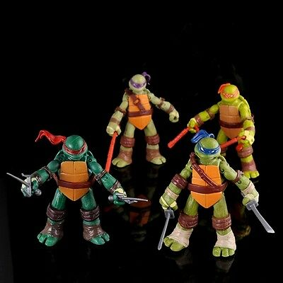 LAS TORTUGAS NINJA / TEENAGE MUTANT NINJA TURTLES - SET 4 FIGURAS 11-12cm