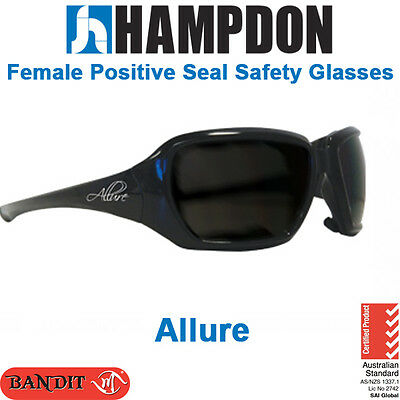 Female Positive Seal Safety Glasses - Allure – Black with Clear/Smoke Lens