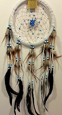 Native American Dream Catcher With Stones Suede 75 cm Overall Drop