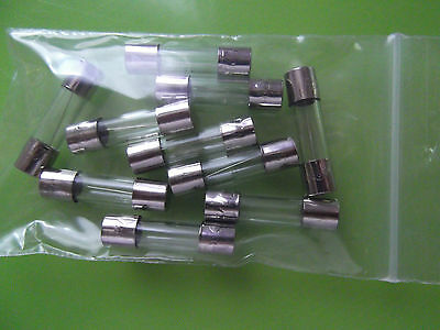 15A_20mm_Glass_Fuses Fast Blow Quick 5x20mm F15A, choice of 1 or 10 pieces