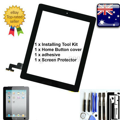 Premium Digitizer Replacement Front Glass Touch Screen Lens for iPad 2 Black New