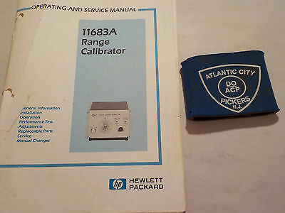 Hewlett Packard 11683A Range Calibrator Operating And Service Manual