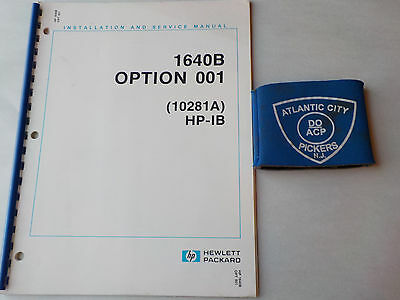 Hewlett Packard 1640B Option 001 Installation And Service Manual