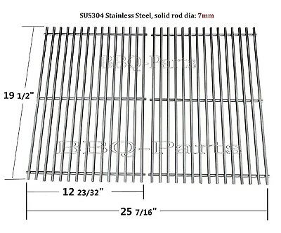 SCG528 BBQ Stainless Steel Cooking Grid For Weber Genesis E-300 S-300