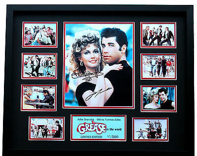 New Grease John Travolta Olivia Newton John Signed Limited Edition Memorabilia