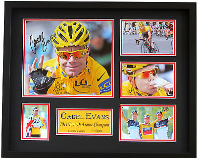 New Cadel Evans Signed Limited Edition Memorabilia