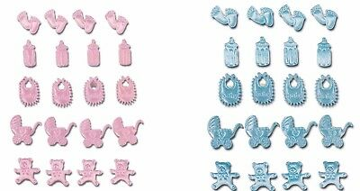 Self Adhesive Baby Motifs 20 Pack Card Christening Shower Craft Embellishment