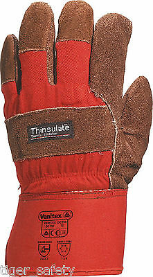 Delta Plus Venitex DCTHI Brown Thermal 3M Thinsulate Rigger Work Gloves Docker