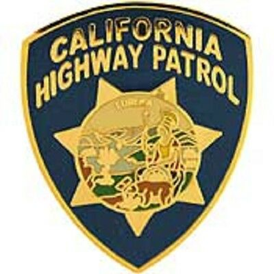 CA  CALIFORNIA HIGHWAY PATROL PATCH MINI BADGE PIN - NEW POLICE PIN