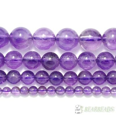 Grade AAA Natural Lavender Amethyst Gemstone Round Beads 4mm 6mm 8mm 10mm 15.5""